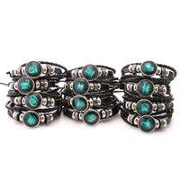Briller dans l'obscurité Douze Constellations Bracelet pour hommes femmes Snap Button Bracelet en cuir Signes du zodiaque Bijoux Homme