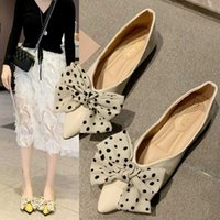 Shoes Woman Flats Women' s Moccasins Shallow Mouth Bow- K...
