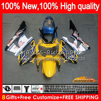 Cuerpo para HONDA CBR929RR CBR900RR azul amarilla CBR929 RR CBR900 RR 900RR 76HC.52 CBR 929RR 900 929 RR CC 900cc 929CC 00 01 2000 2001 carenado