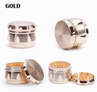 Tobacco Crusher Herb Grinder 4 piece 63mm aluminum zinc alloy smoking sets pollen press catcher Diamond Shape Side Concave metal grinders