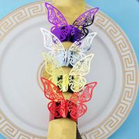 나비 모양의 웨딩 냅킨 링 냅킨 홀더 진주 종이 냅킨 버클 ROND 드 냅킨 MARIAGE 테이블 장식