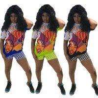 Nipsey Hussle Drucken Schachbrett-Shorts Sets Graffiti Rapper T-Shirts + Mosaik Shorts Hip Hop Straße Anzug Fans Favor Street S-3XL C7803