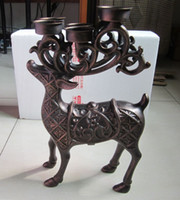 Deer Elk Candleholder with 6 Tealight Holder Candle Stand Cu...
