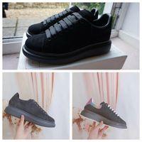 Plataforma preta sapatos de veludo Estilo Chaussures sapatos grandes sapatilhas Qualidade calçados casuais bonita com caixa