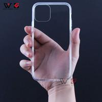iPhone 11 12 Pro XS 최대 고품질 투명한 클리어 실리콘 TPU 백 커버 쉘 도매를위한 방수 전화 케이스