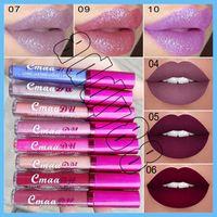 CmaaDu Brand Sexy Sparkle Chameleon Metallic Lip Gloss Stick Desnudo de larga duración Impermeable 12 colores Lápiz labial líquido mate Maquillaje de cumpleaños