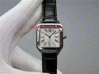 Новый Extra-Thin Мужские часы Швейцарский кварцевый механизм площади 316L Стальной корпус сапфировое стекло римская цифра Италия кожаный ремешок