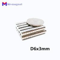 2019 imanes 100 Adet 6x3 Neodimyum Mıknatıs Disk Kalıcı N35 NdFeB Küçük Yuvarlak Süper Güçlü Güçlü Manyetik Mıknatıslar 6mm x 3mm