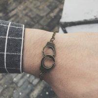 Esposas diseñador punk encanto del brazalete de las pulseras de pulseras de plata cadena mujeres brazaletes Declaración joyería del verano del estilo de regalo al por mayor de DHL