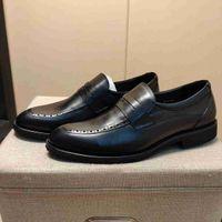 Marka Erkekler İnek Deri Elbise Düğün Ayakkabı Moda Resmi Suit İş Ofis Ayakkabı Moccasins Düşük Topuk Tasarım Horsbit Loafer'lar Oxfords, 38-44