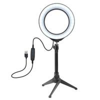Tripod Moblie Telefon Kelepçe ile PULUZ 4.6 / 6.2 inç Fotoğraf Stüdyosu LED Halka Işık 3200-6500K 72 LED'ler Selfie'nin Halka Lamba Fotografik Aydınlatma