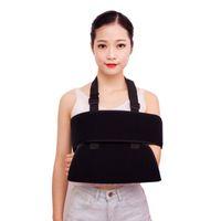 Malha Ombro Arm Sling Elbow Brace Suporte respirável Strap Dividir ajustável