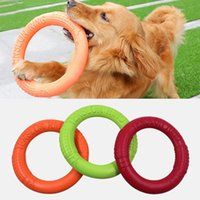 Dog Toys Flying Discs Pet Interactive Training Ring Dog Port...