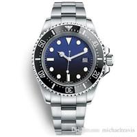 Hot sale Sapphire Relógios De Pulso De Cerâmica SEA-DWELLER Relógio De Aço Inoxidável 126600 Movimento Automático mens relógios frete grátis