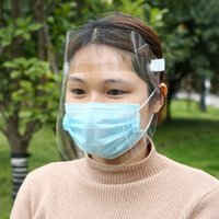 DHL Ship Clear Protective Face Shield Mask Plastic Screen Fu...