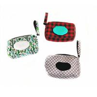 Porte néoprène boîte de mouchoirs avec Wristlet Longe Leopard Tournesol Cactus Prints Mouchoirs Serviette Housse Accueil Noël Cadeaux Partie