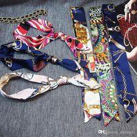 Drucken wilde magische Seide gebunden Tasche Griff Kleine Band Schal Kopftuch für Handtaschen Zahlung Link Hoher Qualität Luxus Designer Eine Menge Farbe wählen