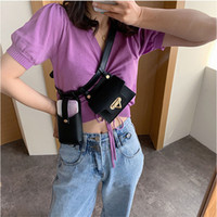 여성 허리 가방 PU 가죽 미니 Fanny 팩 다기능 여행 아가씨 가슴 벨트 가방 힙합 부랑 가방 여성 전화 지갑 작은