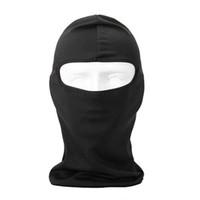 Máscara HobbyLane Uherebuy Motocicleta Ciclismo lycra Balaclava Full Face Para Sun UV Protection (Black) Cheap
