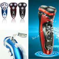 220v 3D lavable Trimmer électrique Visage Barbe Moustache Cutter 3 Tête rotative Lame Man rasage Clipper Toilettage Sideburn rasoir coupe au rasoir