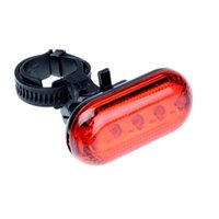 자전거 조명 5 LED 자전거 라이트 리어 테일 레드 경고 방수 미등 램프 플래시 토치 3 모드