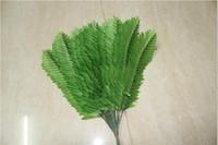 All'ingrosso-38 cm Filiali Tessuto Wedding Home Decor Phoenix cocco Sago Palm albero artificiale pianta di felce Lascia falso Fogliame Bonsai shipp libero