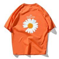 Новая мода Lovers Пара подсолнечника печати футболки Мужчины Qulity 100% хлопок Топ Tee скейтборда Черный Белый Розовый Фиолетовый футболки