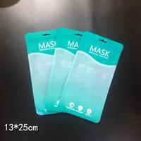 En stock Sac Masque sac Masque jetable de protection anti-poussière sac d'emballage pour le visage Couverture Masques KKA7726-1