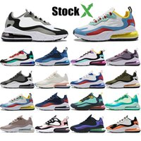 2019 Reagir Homens Mulheres Running Shoes Bauhaus Bege Optical Oreo Branco Deep Blue Designer Mens Trainers respirável Sports Sneakers 36-45