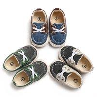2020 первые ходунки младенец новорожденный мальчик девочка мягкая подошва хлопок противоскользящая обувь кроссовки Prewalker Лоскутная обувь 0-18 м