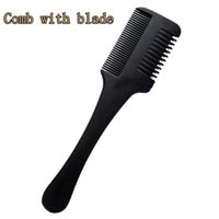 Bıçaklar Fırça İnceltme Tarak Ev DIY Giyotin içini Kesme 1pc Süper Saç Razor Tarak Siyah Sap Saç Razor