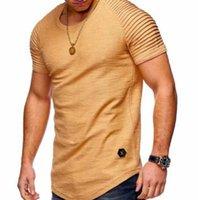 2020 Designer T Shirt Mens increspato Plain a maniche corte T-shirt di moda estate casuale Sport Tempo libero Marca Top 5 colori M-4XL