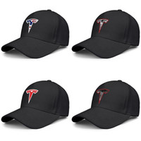 Tesla Electric Distressed Red Logo black mens and womens bas...