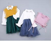 de linda tiendas de otoño e invierno produt sistemas de la ropa de los niños de coste adicional del envío