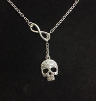Infinity Lariat gothique masque de tête de mort Balance Balance Globe Believe Love dentifrice tortue de mer colliers pendentif Vintage argent Choker bijoux