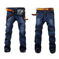 أزياء ربيع الإمتداد جينز زائد حجم كبير 29-44 46 48 مستقيم الدينيم الرجال العلامة التجارية الشهيرة eans رجل مصمم جينز حار بيع