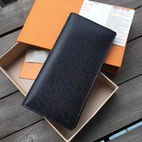 Yüksek kaliteli lüks deri adamın çanta uzun erkekler tasarımcı cüzdan Moda marka kart sahibinin ile notecase kutusu ile m62665 uzun tarzı