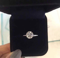 Tienen garra marca de 1-3 quilates de diamante de la CZ 925 anillos de plata anelli para las mujeres se casan con los anillos de compromiso de boda joyería fija el regalo de los amantes