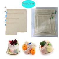 Многоразовые сумки из органического хлопка мешков для продуктовых магазинов и шнурок сумка для хранения сумка машинная стирка экологичный HH7-1925
