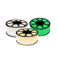 Luz de tira LED SMD5050 110V 220V IP67 60 LED / M con los enchufes de alimentación de EE. UU. Línea de cobre para la decoración