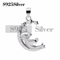 Monkey Pendant Nice Gift 925 Sterling Silver Pearl Findings ...