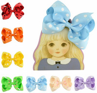4. 5 Inch Girls Bowknot Bow Hair Hairpin Polka Dot Grosgrain ...