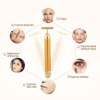 Slimming Face roller 24k Gold Colour Vibration Facial Beauty...