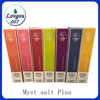 sel original Myst plus dispositif à usage unique 650mAh batterie 1000 + 10 Puffs Couleurs Non 3,2 ml Entretien de charge dhl