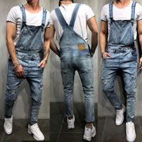 3 Renkler Erkek Jeans tulumları Yüksek Bel tulumları Suspender Denim Jeans Yeni Pantolon Moda Günlük Uzun Pantolon Erkek S-XXL İçin Jeans