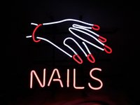 """17 """"x 14"""" Nägel Finger Schönheitssalon STORE OFFENE BIER BAR PUB WANDDEKOR LAMPE NEON LIGHT SIGN"""