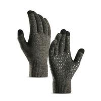 2pcs Полный Finger перчатки Велоспорт Зимние Вязаная Пушистый сенсорный экран Антипробуксовочная Защитные Handwear Фитнес езда перчатки Новые