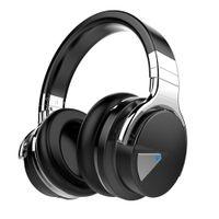 E7 نشط إلغاء الضوضاء سماعات بلوتوث سماعات مع مايكروفون عميق باس سماعات لاسلكية على الأذن ، وسائد الأذن البروتين مريحة
