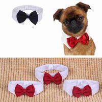 Mascota formal Pajarita Holliday Boda Collar de perro Ropa para perros Accesorios de disfraces Negro Rojo para gatos pequeños y medianos Perros Mascotas