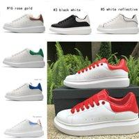 2020 Mode Chaussures en cuir Femmes Hommes velours véritable plate-forme en cuir suédé Chaussures plates Casual Lace Up Plate-forme Chaussures Sneakers Blanc